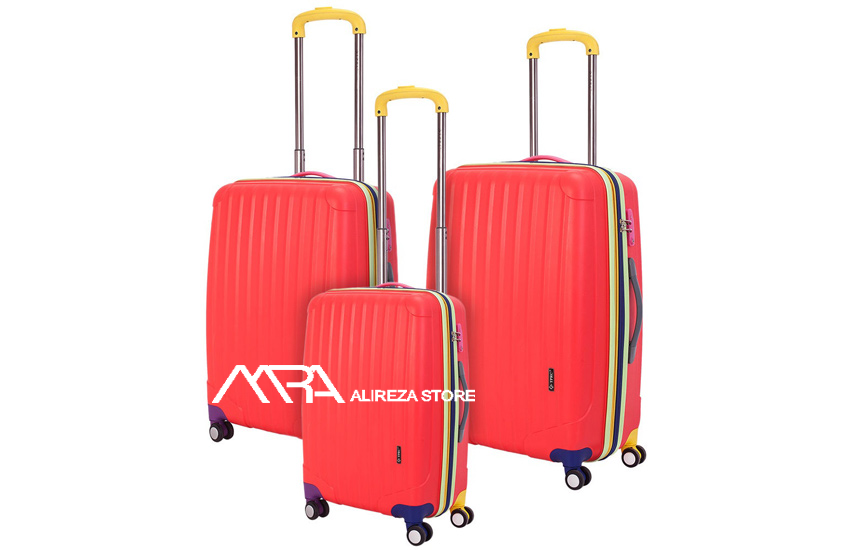 What fabrics are used in making suitcases?